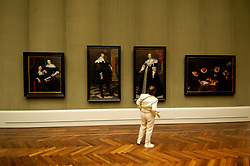 Interior view of paintings in Gemaldegalerie in Berlin Germany