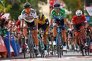 Peter Sagan (SVK - Bora - Hansgrohe), Alejandro Valverde (ESP - Movistar) green jersey, during the UCI World Tour, Tour of Spain (Vuelta) 2018, Stage 8, Linares - Almaden 195,1 km in Spain, on September 1st, 2018 - Photo Luca Bettini / BettiniPhoto / ProSportsImages / DPPI