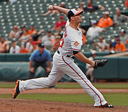 July 23, 2017 - Baltimore, MD, USA - Baltimore Orioles' Zach Britton pitches against the Houston Astros in the ninth inning on Sunday, July 23, 2017 at Oriole Park at Camden Yards in Baltimore, Md. The Orioles defeated the Astros, 9-7. (Credit Image: © Kenneth K. Lam/TNS via ZUMA Wire)