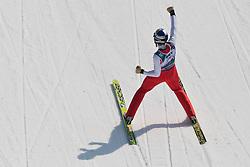 20.03.2010, Planica, Kranjska Gora, SLO, FIS SKI Flying World Championships 2010, Flying Hill Individual 3rd Round, im Bild Thomas Morgenstern, ( AUT, #20 ), Jubel, EXPA Pictures © 2010, PhotoCredit: EXPA/ J. Groder / SPORTIDA PHOTO AGENCY