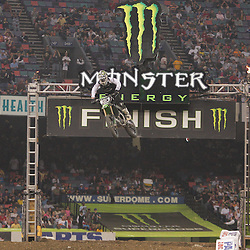 14 March 2009: Ryan Villopoto (2) crosses the finish line during the Main Event of the Monster Energy AMA Supercross race at the Louisiana Superdome in New Orleans, Louisiana
