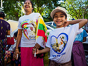 30 NOVEMBER 2017 - YANGON, MYANMAR: A boy with a Pope tee shirt he bought at the Papal Mass at St. Mary's Cathedral in Yangon. Thursday's mass was his last public appearance in Myanmar. From Myanmar the Pope went on to neighboring Bangladesh.   PHOTO BY JACK KURTZ