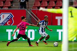 """Chidera Ejuke #8 of Heerenveen, Othman Boussaid #26 of Utrecht. FC Utrecht convincingly won the practice match against sc Heerenveen. The """"Domstedelingen"""" were too strong for SC Heerenveen in Stadium Galgenwaard with 4-1<br /> on August 20, 2020 in Utrecht, Netherlands"""