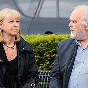 NLD/Bilthoven/20120618 - Uitvaart Will Hoebee, Jerney Kaagman en partner Bert Ruiter