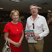 31.05.2018.          <br /> Limerick and Clare Education Training Board launch Youth Work Plan 2018-2021 at Thomond Park Limerick with Pat Breen TD, Minister of State with special responsibility for Trade, Employment, Business, EU Digital Single Market and Data Protection, Clare. <br /> <br /> Pictured at the event were, Shelagh Graham and Maurice Walsh. Picture: Alan Place