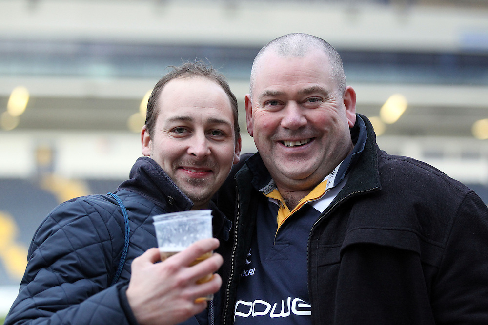 Worcester Warrior Fans after todays game<br /> <br /> Photographer Rachel Holborn/CameraSport<br /> <br /> Rugby Union - Greene King IPA Championship  - Worcester Warriors v London Scottish - Saturday 28th March 2015 - Sixways Stadium - Worcester<br /> <br /> © CameraSport - 43 Linden Ave. Countesthorpe. Leicester. England. LE8 5PG - Tel: +44 (0) 116 277 4147 - admin@camerasport.com - www.camerasport.com
