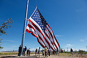 Raising the flag day at the Flag Day ceremony.