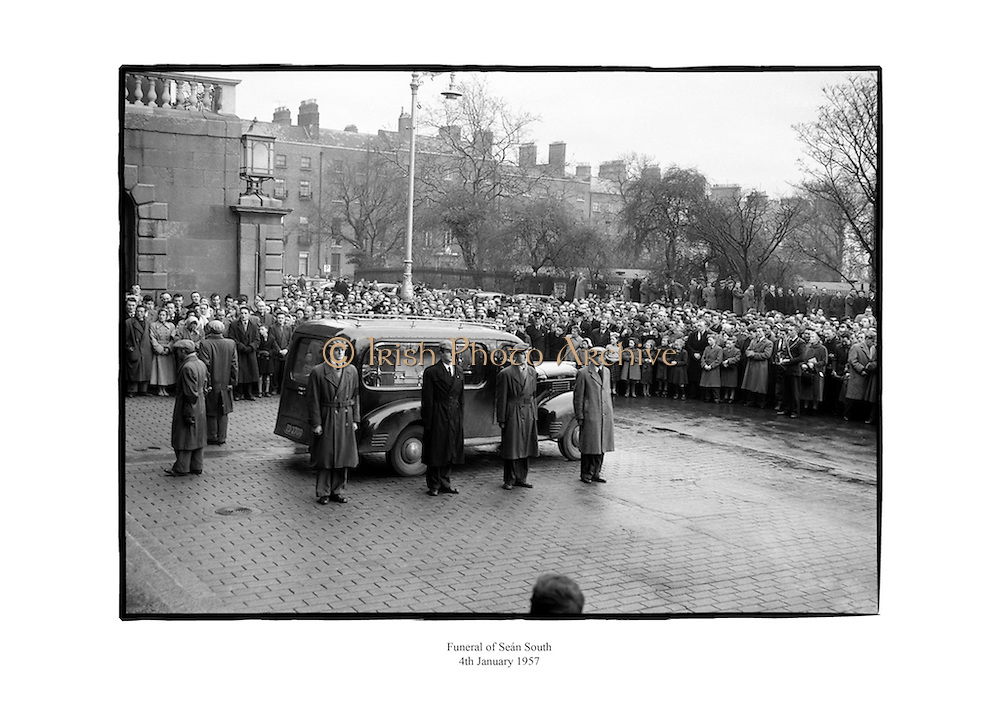 Funeral of Seán South.<br /> <br /> 4th January 1957<br /> 04/01/1957