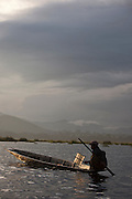 A fisherman on Inle Lake, Myanmar