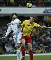 Photo: Marc Atkins.<br /> Watford v Bolton. The Barclays Premiership. 03/02/2007.