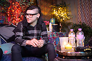 Skrillex backstage at the Rave in Milwaukee, WI before his New Years Eve performance on December 31, 2011.