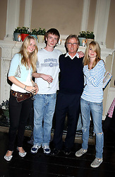 Left to right, ITHAKA RODDAM, PATRICK RODDAM, FRANC RODDAM and FLYNN RODDAM at a party hosted by Franc Roddam and Frost French to celebrate the publication of Margarita's Olive Press by Rodney Sheilds held at No1 Greek Street, Soho Square, London W1 on 15th September 2005.<br /><br />NON EXCLUSIVE - WORLD RIGHTS