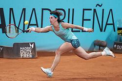 May 8, 2018 - Madrid, Spain - Spanish Carla Suarez during Mutua Madrid Open 2018 at Caja Magica in Madrid, Spain. May 09, 2018. (Credit Image: © Coolmedia/NurPhoto via ZUMA Press)