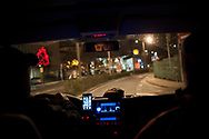 Some drive to the bus station to see if any migrant in transit arrives so he can be driven to the Red Cross device. Irun (Basque Country). December 23, 2018. A group of volunteers has created a host network to serve migrants and inform about the public services they are entitled to and the ways to cross the border. This group of volunteers is avoiding a serious humanitarian problem Irun, the Basque municipality on the border with Hendaye. As the number of migrants arriving on the coasts of southern Spain incresead, more and more migrants are heading north to the border city of Irun. French authorities have reacted by conducting random checks as far as the city of Bordeaux, more than 200 kilometers north of the border. Migrants who are caught are then deported back to Irun. (Gari Garaialde / Bostok Photo).