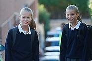 091119 Crown Princess Leonor And Princess Sofia Start School