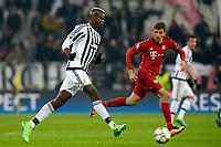 Paul Pogba Juventus, Thomas Muller Bayern <br /> Torino 23-02-2016 Juventus Stadium, Football Champions League 2015/2016 Round of 16 Juventus - Bayern Munich / Juventus - Bayern Monaco .  Foto Filippo Alfero / Insidefoto