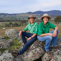 Lucinda and Ruth Corrigan are part of Rennylea Angus, a seed stock operation near Holbrook, NSW.  <br /> <br /> Shot for a feature story in Outback magazine.