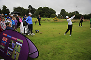 Leona Maguire (IRL) and Stephanie Meadow (NIR) at the Golf4Girls4Life festival at the ISPS Handa World Invitational, Galgorm Castle Golf Club, Ballymena, Antrim, Northern Ireland. 14/08/2019.<br /> Picture Fran Caffrey / Golffile.ie<br /> <br /> All photo usage must carry mandatory copyright credit (© Golffile   Fran Caffrey)