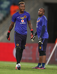 Brilliant Khuzwayo G/K of Kaizer Chiefs during the 2016 Premier Soccer League match between Kaizer Chiefs and Baroka FC held at the Moses Mabhida Stadium in Durban, South Africa on the 2nd November 2016<br /> <br /> Photo by:   Steve Haag / Real Time Images