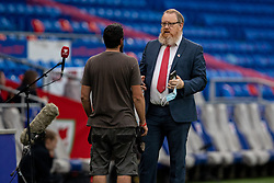 CARDIFF, WALES - Wednesday, September 8, 2021: Wales' head of international affairs Mark Evans during the FIFA World Cup Qatar 2022 Qualifying Group E match between Wales and Estonia at the Cardiff City Stadium. (Pic by David Rawcliffe/Propaganda)