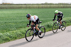 Elena Cecchini (CANYON//SRAM) sets the pace at Omloop van Borsele 2016. A 139 km road race starting and finishing in 's-Heerenhoek, Netherlands on 23rd April 2016.