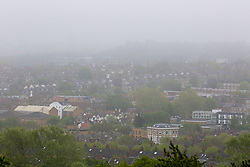 © Licensed to London News Pictures. 29/04/2019. London, UK. View of north London enveloped in mist from Alexandra Palace. Photo credit: Dinendra Haria/LNP