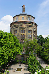 Historic  water tower (wasserturm) now apartment building in Prenzlauer berg Berlin Germany