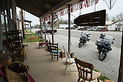 BMW R1200GS Adventures parked in front of Century Antiques and Collectibles in southwestern Missouri.