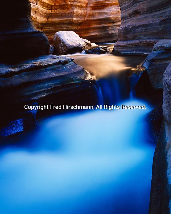 Deer Creek flowing through Deer Creek Narrows, Grand Canyon National Park, Arizona.