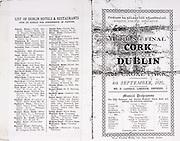 All Ireland Senior Hurling Championship Final,.04.09.1927, 09.04.1927, 4th September 1927, .Cork 1-3, Dublin 4-8,.Senior Cork v Dublin, .Croke Park, .0491927AISHCF,.Advertisements, List of Dublin Hotels & Restaurants, .