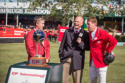 Millar Ian (CAN)  <br /> Winner of the CP International Grand Prix presented by Rolex<br /> Spruce Meadows Masters - Calgary 2014<br /> © Dirk Caremans