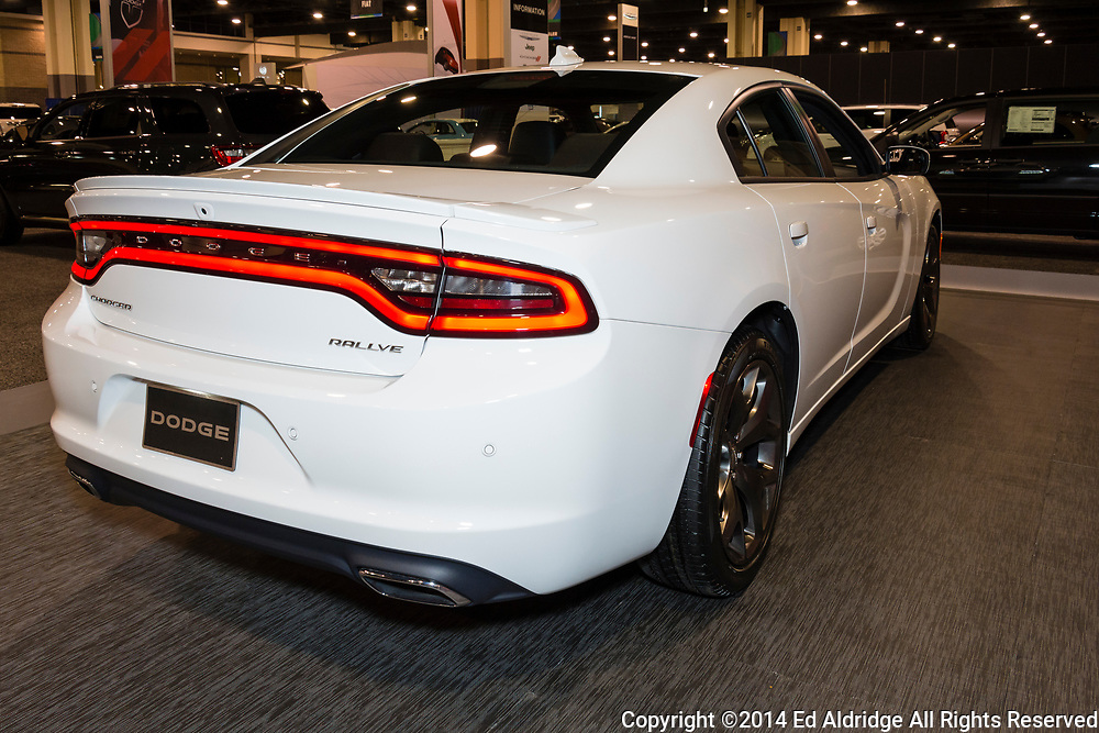 CHARLOTTE, NORTH CAROLINA - NOVEMBER 20, 2014: Dodge Charger on display during the 2014 Charlotte International Auto Show at the Charlotte Convention Center.