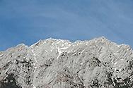 Mountains above the River Soca. Alpe Adria Trail, Triglav national park, Slovenia. The Alpe Adria Trail (AAT) is a 750km hiking route through Austria, Slovenia and Italy. © Rudolf Abraham