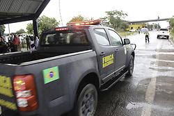 April 16, 2018 - Pacaraima, Brazil - PACARAIMA, RR - 16.04.2018: NATIONAL FORCE FRONTIER BRAZIL VENEZUELA - National Force giving support on the Brazilian border with Venezuela. (Credit Image: © Fabio GonçAlves/Fotoarena via ZUMA Press)