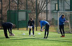 Goalkeepers during 1st Practice session of NK Olimpija Ljubljana after Winter break before Spring season of Prva liga 2018/19, on January 10, 2018 in ZAK, Ljubljana, Slovenia. Photo by Vid Ponikvar / Sportida