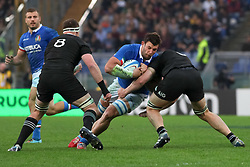 November 24, 2018 - Rome, Rome, Italy - Marco Fuser and Kieran Read during the Test Match 2018 between Italy and New Zealand at Stadio Olimpico on November 24, 2018 in Rome, Italy. (Credit Image: © Emmanuele Ciancaglini/NurPhoto via ZUMA Press)