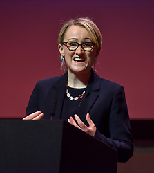 Pictured: Rebecca Long-Bailey on stage.<br /> <br /> Candidates in the race to be the new Labour leader took part in a hustings in Glasgow on Saturday.<br /> <br /> © Dave Johnston / EEm