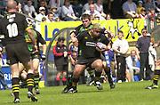 2004 Zurich Premiership Semi-Final - London Wasps v Northampton Saints  16/05/2004 <br />Wasps hooker Trevor Leota, breaking John Leslie's tackle. , [Mandatory Credit: Peter Spurrier/Intersport Images],