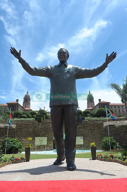 Dec. 16, 2013 - Pretoria, South Africa - A nine-meter statue of former president Nelson Mandela was unveiled as part of the Reconciliation Day celebrations. (Credit Image: © Li Qihua/Xinhua/ZUMAPRESS.com)