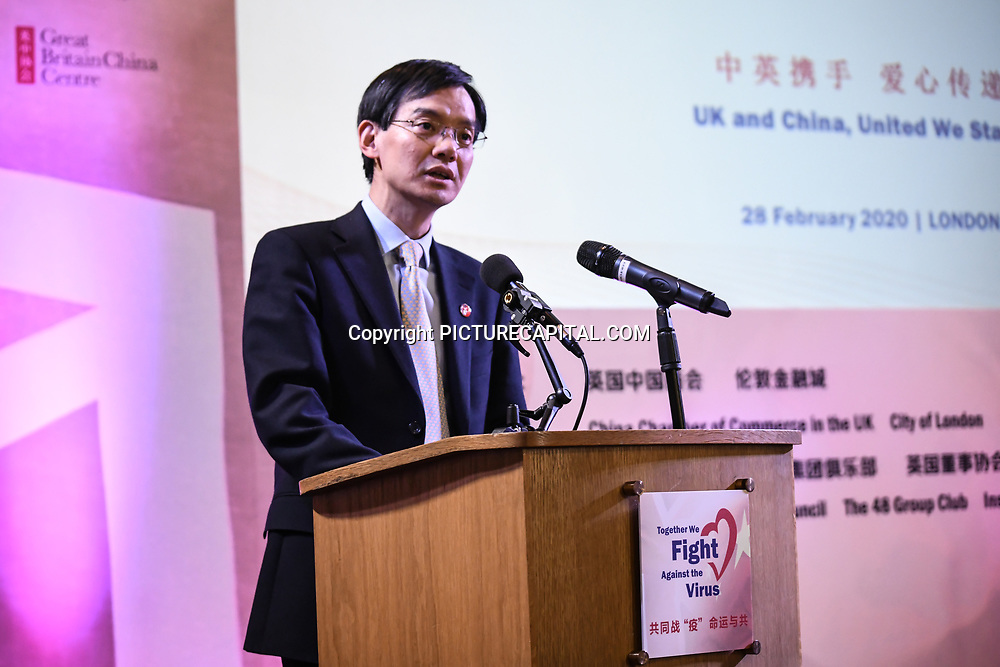 Speakers FANG Wenjian is a Chief Executive Officer of Bank of China (UK) Limited at China-UK United We Stand together to fights the #Covid19 at Guildhall, on 28th February 2020, London, UK.