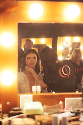 December 8, 2019, Atlanta, Georgia, USA: Gazini Ganados, Miss Philippines 2019 gets makeup done by an OP Cosmetics artist backstage during The Miss Universe Competition telecast, held at Tyler Perry Studios. Contestants from around the globe have spent the last few weeks touring, filming, rehearsing and preparing to compete for the Miss Universe crown. (Credit Image: © Benjamin Askinas/Miss Universe Organization via ZUMA Wire)