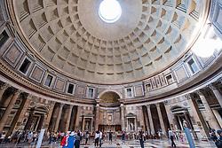 Interior of the Pantheon,  on Piazza della Rotonda,  Rome, Italy