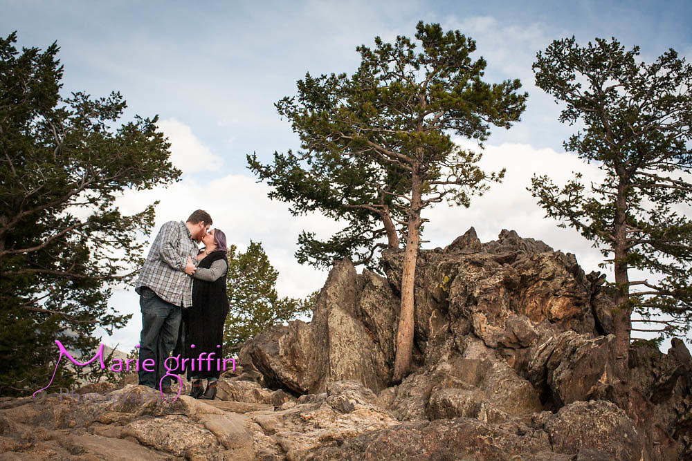 Jenna and Brandon engagement photos in Rocky Mountain National Park Estes, Colorado on Oct.19, 2015.<br /> Photography by: Marie Griffin Dennis/Marie Griffin Photography<br /> mariegriffinphotography.com<br /> mariefgriffin@gmail.com