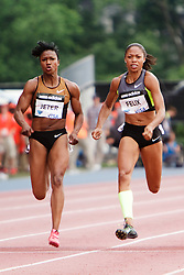 Samsung Diamond League adidas Grand Prix track & field; women's 100 meters, Jeter, Felix,