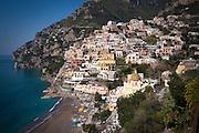 The iconic landscape view of Positano, Amalfi Coast, Campagna, Italy
