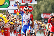 Arrival, Arnaud Demare (FRA - Groupama - FDJ) winner, during the 105th Tour de France 2018, Stage 18, Trie sur Baise - Pau (172 km) on July 26th, 2018 - Photo Luca Bettini / BettiniPhoto / ProSportsImages / DPPI