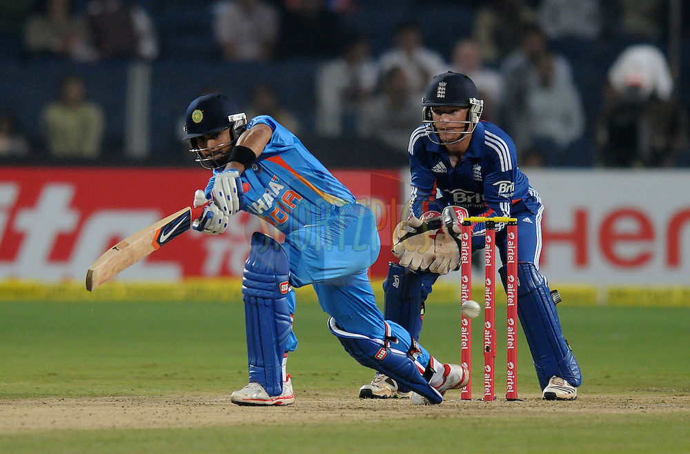 Virat Kohli of India bats during the first Airtel T20 Match between India and England held at Subrata Roy Sahara stadium in Pune on the  20th December 2012..Photo by  Pal Pillai/BCCI/SPORTZPICS ..