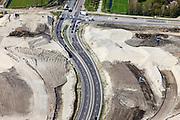 Nederland, Friesland, Leeuwarden, 01-05-2013; aanleg N31 de Haak om Leeuwarden. Bouw nieuw knooppunt Werpsterhoek,detail..De nieuwe rijksweg vormt de verbinding tussen de huidige A31 bij Marsum en de N31 bij Hemriksein (Wâldwei)..Construction of new motorway junction of the N31,near Leeuwarden..luchtfoto (toeslag op standard tarieven).aerial photo (additional fee required).copyright foto/photo Siebe Swart