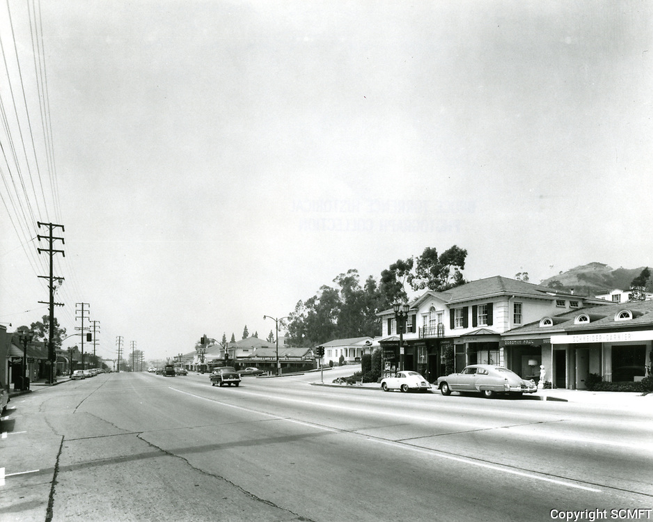 1953 Sunset Blvd., looking at Sunset Plaza Dr. in West Hollywood