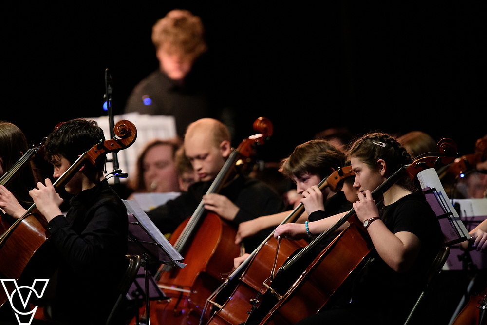 Lincolnshire Youth Concert Orchestra.<br /> <br /> Lincolnshire Music Service's County Groups showcase concert, held at the Engine Shed, Lincoln.<br /> <br /> Picture: Chris Vaughan Photography for Lincolnshire Music Service<br /> Date: April 13, 2019
